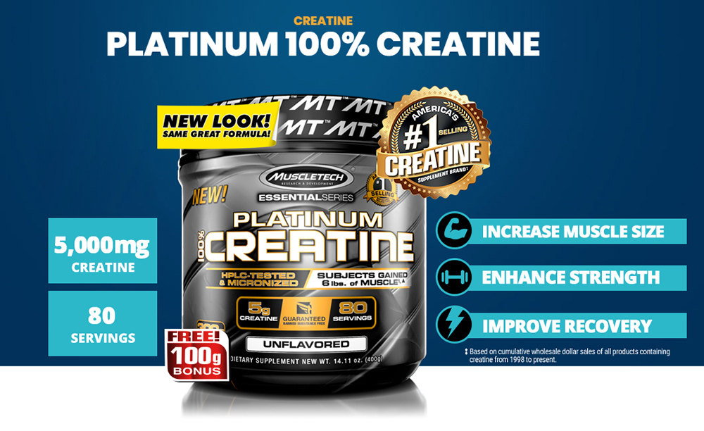 MuscleTech Platinum Creatine, 400 Grams - JB Fitness